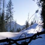 Biking the Bear Shit Chutes in the Winter, Fernie, BC, Canada