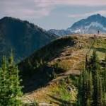beautiful alpine view from retallack, british columbia, canada near nelson