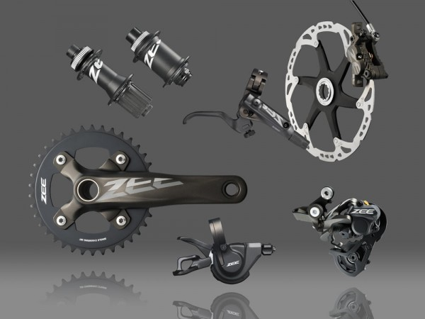 Shimano introduces the new zee complete group for 2013