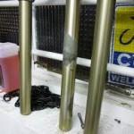fork leg stanchion wear, bushing wear, damage from lack of maintenance