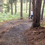Pollard's Complete Trail Building Guide examples of berms image one