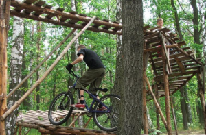 Pollard's Complete Trail Building Guide examples of berms freerider trails, ladders, and bridges image two