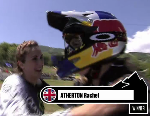 rachel atherton win 2012 world cup dh mont-saint-anne quebec