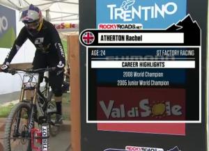Rache atherton wins mountain bike world cup 2012 #2 val di sol italy