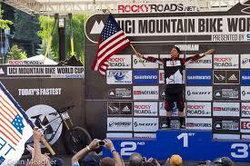 aaron gwin winning again in windham, usa 2012 uci world cup of mountain biking downhill