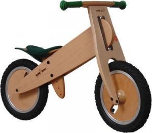 the kids wooden run bike.  Also known as a balance bike, push bike, strider bike or pre-bike