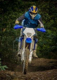 enduro bike rider on trail