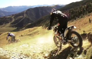 Cedric Gracia and Cyril Despres riding riding in Andorra aboard the new KTM Freeride 350