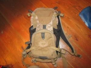 camelbak mountain biking pack with lots of room for tools, water and stuff
