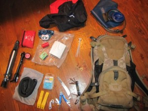 the complete contents of my back pack. I always mountain bike with these things