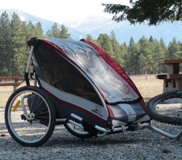 joytrax se2 (bx trailers) child carrier pulled behind mountain bike
