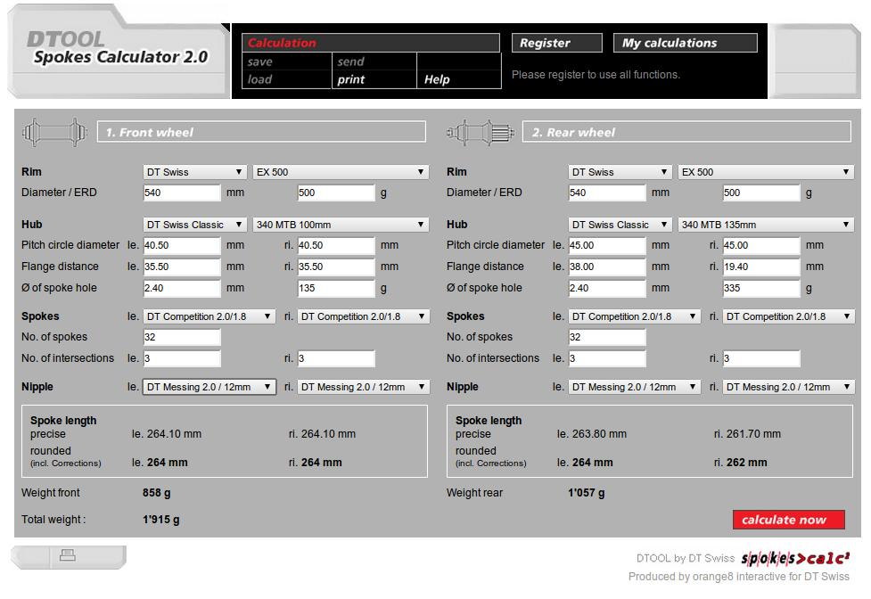 screenshot of dtwiss dtool spokes calculator 2.0